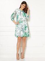 New York & Co. Eva Mendes Collection - Maribel Dress - Palm Leaf Print