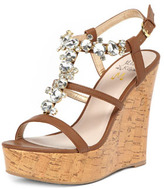 Dorothy Perkins Miss KG Tan gem sandal wedges