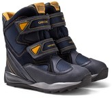 Geox Navy and Yellow Velcro Snow Boots