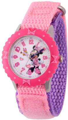 Disney Girl' Diney Minnie Moue tainle teel Time Teacher Watch - Pink