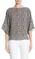 Michael Kors Women's Floral Silk Blouse