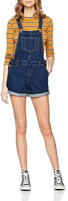 New Look Women's 55414 Dungarees, Blue Pattern
