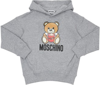 Moschino Toy Bear Print Cotton Sweatshirt Hoodie
