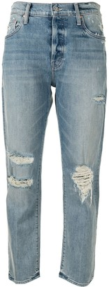 Mother high rise The Scrapper Ankle jeans