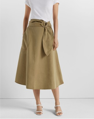 Club Monaco Belted A-Line Skirt