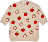 Gucci GG apple jacquard crew neck jumper