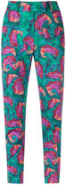 Isolda - abstract print skinny trousers - women - Cotton/Spandex/Elastane - 36