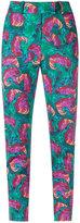 Isolda - abstract print skinny trousers - women - Cotton/Spandex/Elastane - 38