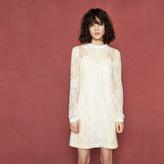 Maje Short lace patchwork dress