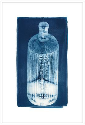 Jonathan Bass Studio Ribbed Bottle, Decorative Framed Hand Embellished