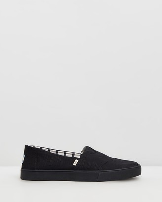 Toms Men's Black Flats - Heritage Classic Canvas Espadrilles - Women's - Size One Size, 10 at The Iconic