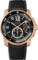 Calibre De Cartier 18ct Pink-gold Diver Watch