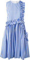 MSGM ruffled detail checked dress - women - Cotton - 38