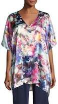 Christine Designs Blossom Silk Tunic Top, Multi Pattern