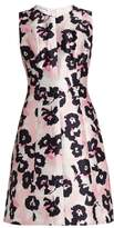 Oscar de la Renta Floral-print silk and cotton-blend dress