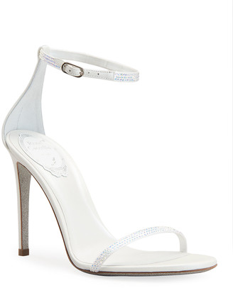 Rene Caovilla 105mm Crystal Ankle-Wrap Sandals