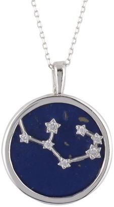 Latelita Zodiac Lapis Lazuli Gemstone Star Constellation Pendant Necklace Silver Sagittarius