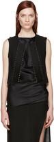 Ann Demeulemeester Black Wool Studded Waistcoat