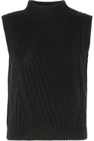 Diane von Furstenberg Ediva Ribbed Wool And Cashmere-Blend Sweater