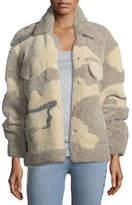 Rag & Bone Jake Shearling Camouflage Jacket
