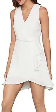 BCBGMAXAZRIA Ruffled Wrap Dress