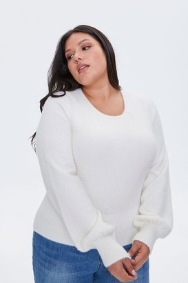 Forever 21 Plus Size Fuzzy Knit Sweater