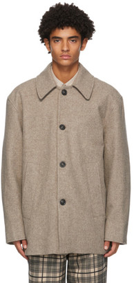 Schnaydermans Beige Melton Wool Coat