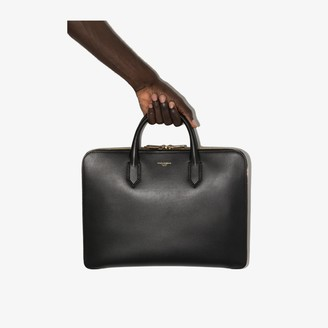 Dolce & Gabbana Black Leather Laptop Bag