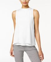 Bar III Layered Contrast Top, Created for Macy's