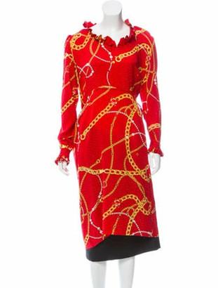 Balenciaga Silk Printed Dress