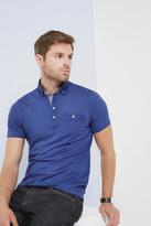 Linen collar polo shirt