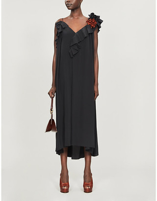 Victoria Beckham V-neck sleeveless silk maxi dress