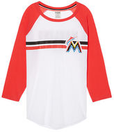 PINK Miami Marlins Bling Perfect Baseball Tee