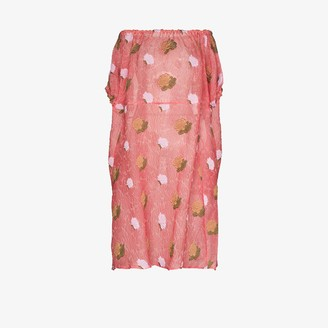Masterpeace Off-The-Shoulder Floral-Print Midi Dress