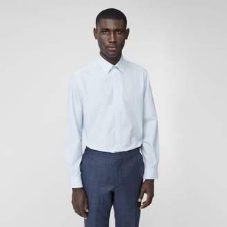 Burberry Classic Fit Striped Cotton Poplin Dress Shirt