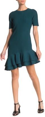 Diane von Furstenberg Adeline Ruffled Asymmetric Hem Dress