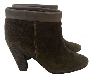 Etoile Isabel Marant Green Suede Ankle boots