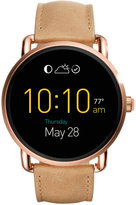 Fossil Q Wander Touchscreen Light Brown Leather Strap Hybrid Smart Watch 45mm FTW2102