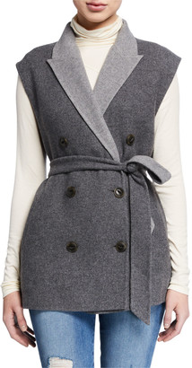 Rag & Bone Pearson Double-Breasted Wool Vest