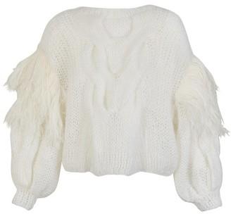 Loewe Feather trim mohair sweater
