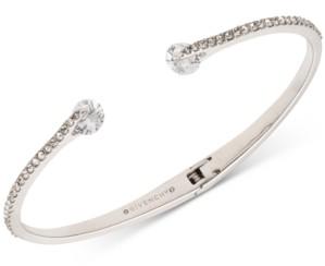 Givenchy Crystal & Pave Hinged Bangle Bracelet