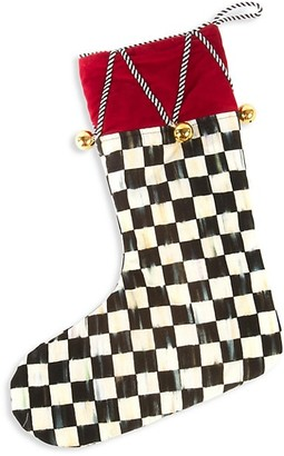 Mackenzie Childs Jingle Bell Stocking