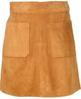 Frame suede mini skirt - women - Calf Leather - 25