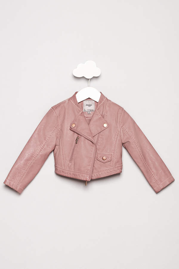 Mayoral Pink Leather Jacket