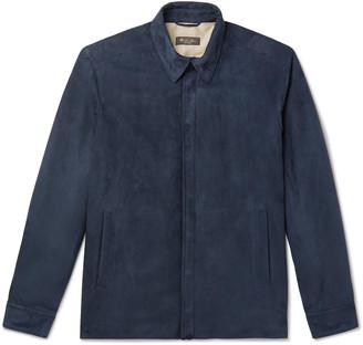 Loro Piana Rain System Suede Shirt Jacket