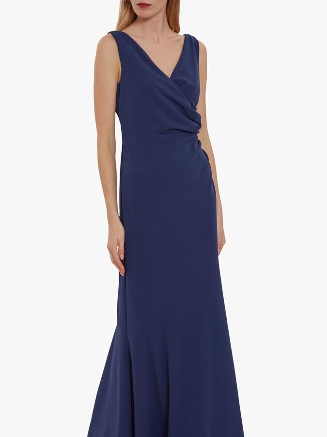Thumbnail for your product : Gina Bacconi Gilberta Crepe Maxi Dress