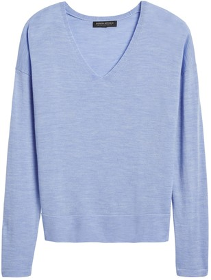 Banana Republic Petite Washable Merino V-Neck Sweater