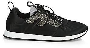 Fendi Women's Embellished Satin Sneakers