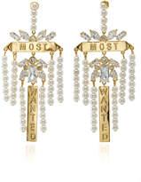 Fallon Monarch Most Wanted Faux Pearl Earrings