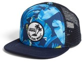 Vans Boy's Surf Patch Trucker Hat - Blue